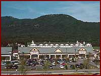 North Conway Shopping New Hampshire Outlet Mall in NH on strip map, store map, inlet map, sports map,